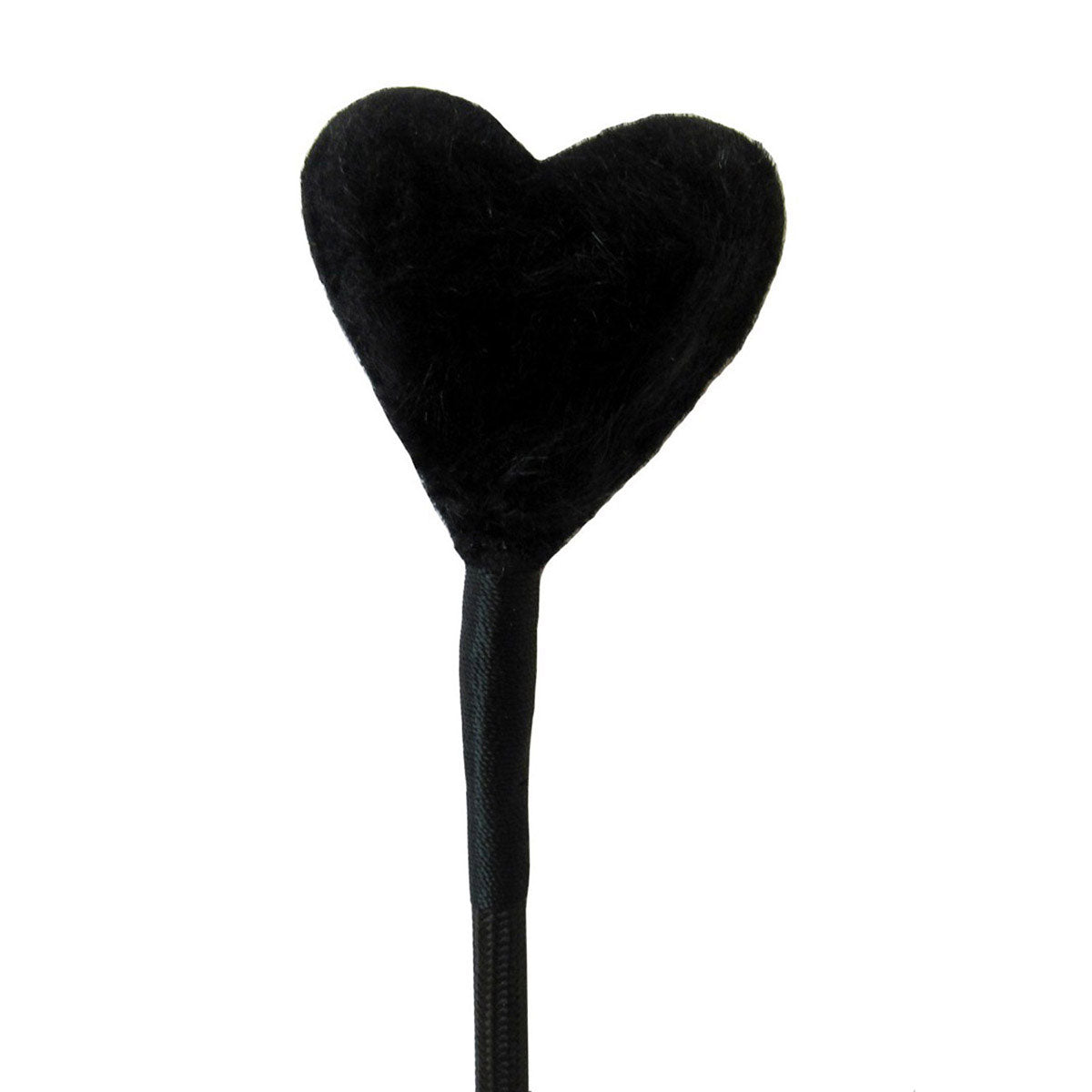 Crop with Heart Fluff Tip - Black