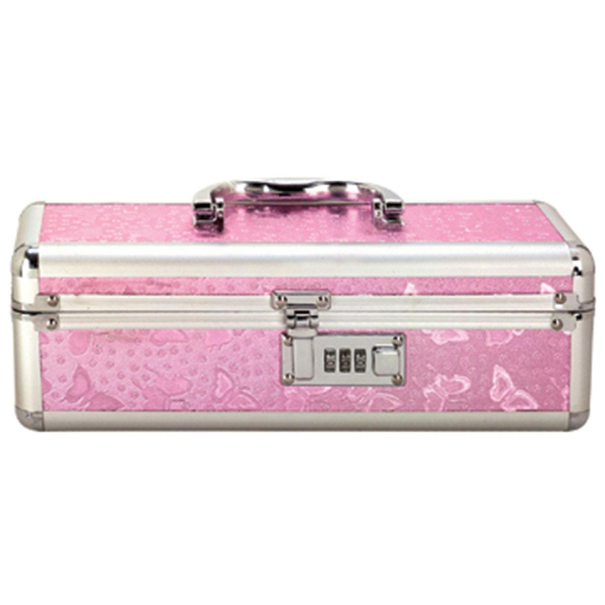 "Lockable Toy Box Medium 12""x4""x4"" - Pink"