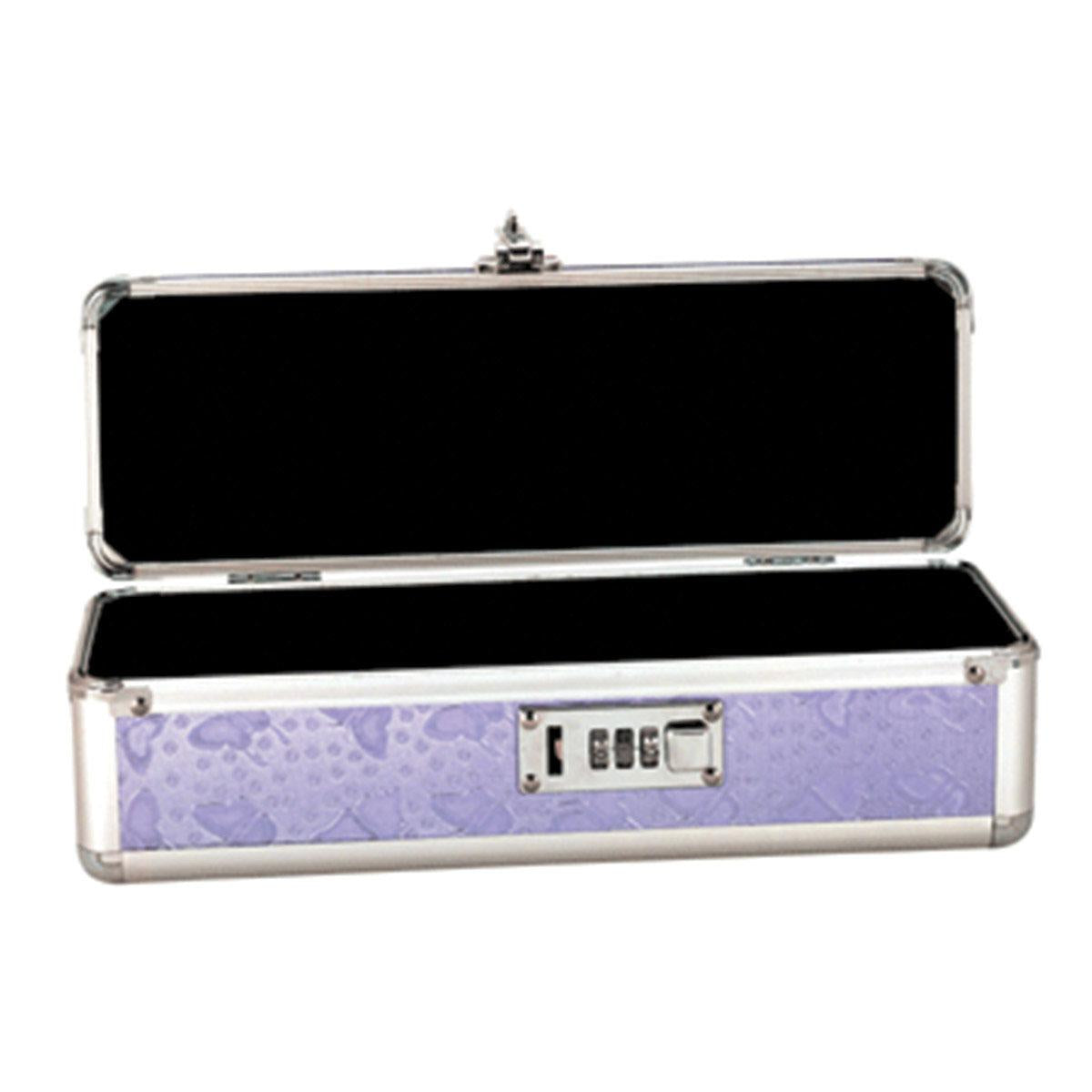 "Lockable Toy Box Medium 12""x4""x4"" - Purple"