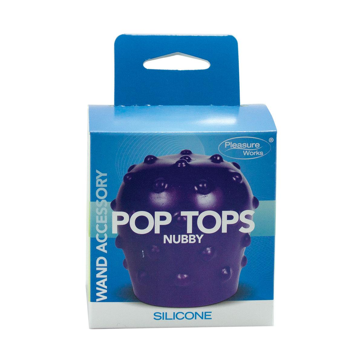 Pop Top Wand Attachment Nubby Purple