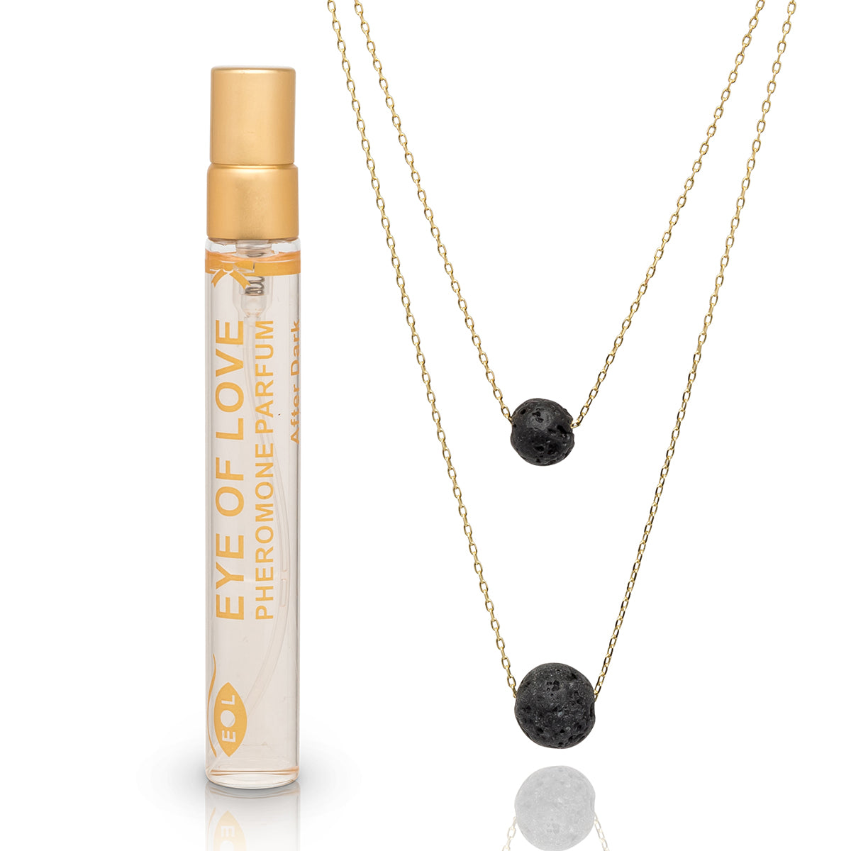 Eye of Love 2-Layer Necklace - Gold - After Dark 10ml