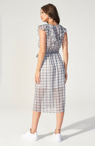 Heroine Check Midi Dress