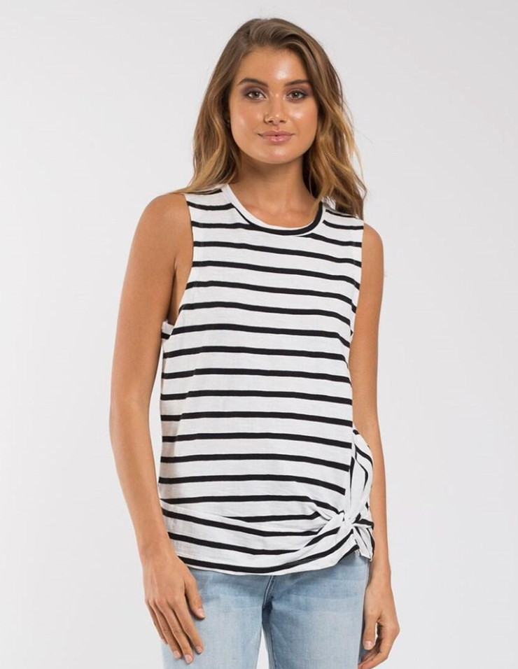 Knot Front Crop Tank