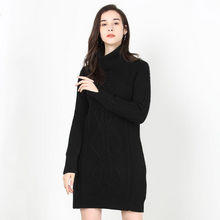 Load image into Gallery viewer, Detachable Simple Atmospheric Turtleneck Dress