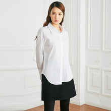 Load image into Gallery viewer, Basic Irregular Cotton Shirt - White