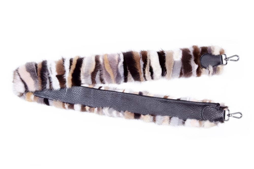 Bag  Strap w/ Single Fur