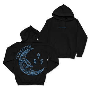 """Blue Moon"" Embroidered Front Hoodie"