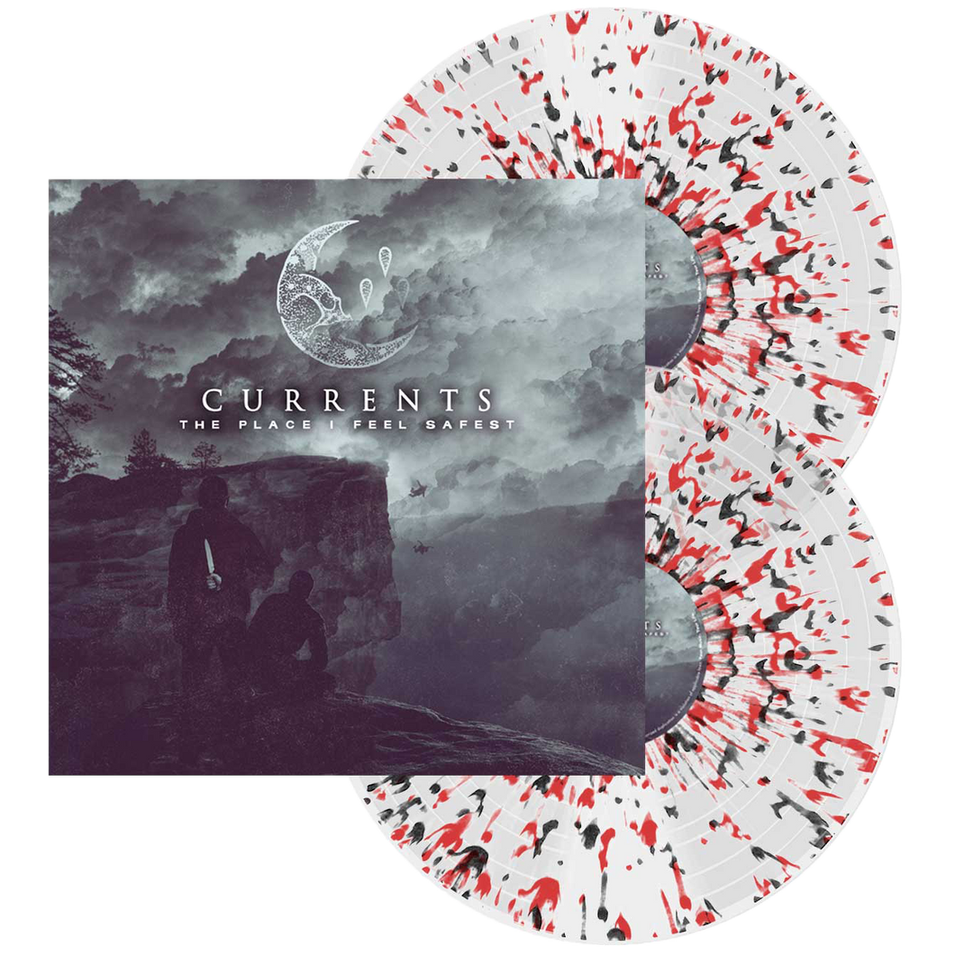 Currents - The Place I Feel Safest (Clear w/Red + Black Splatter)