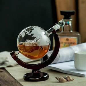 Antique Globe Whiskey Decanter