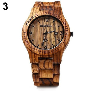 Hand Carved Wooden Watch