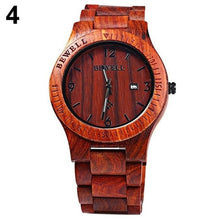 Load image into Gallery viewer, Hand Carved Wooden Watch