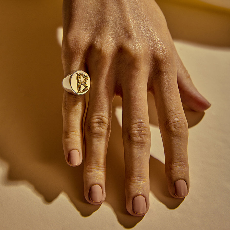 Eugênia Alphabet Ring Gold