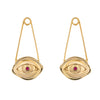 Paola Vilas, earrings, gold, ruby, eye, eyes, Felini, jewel, jewelry