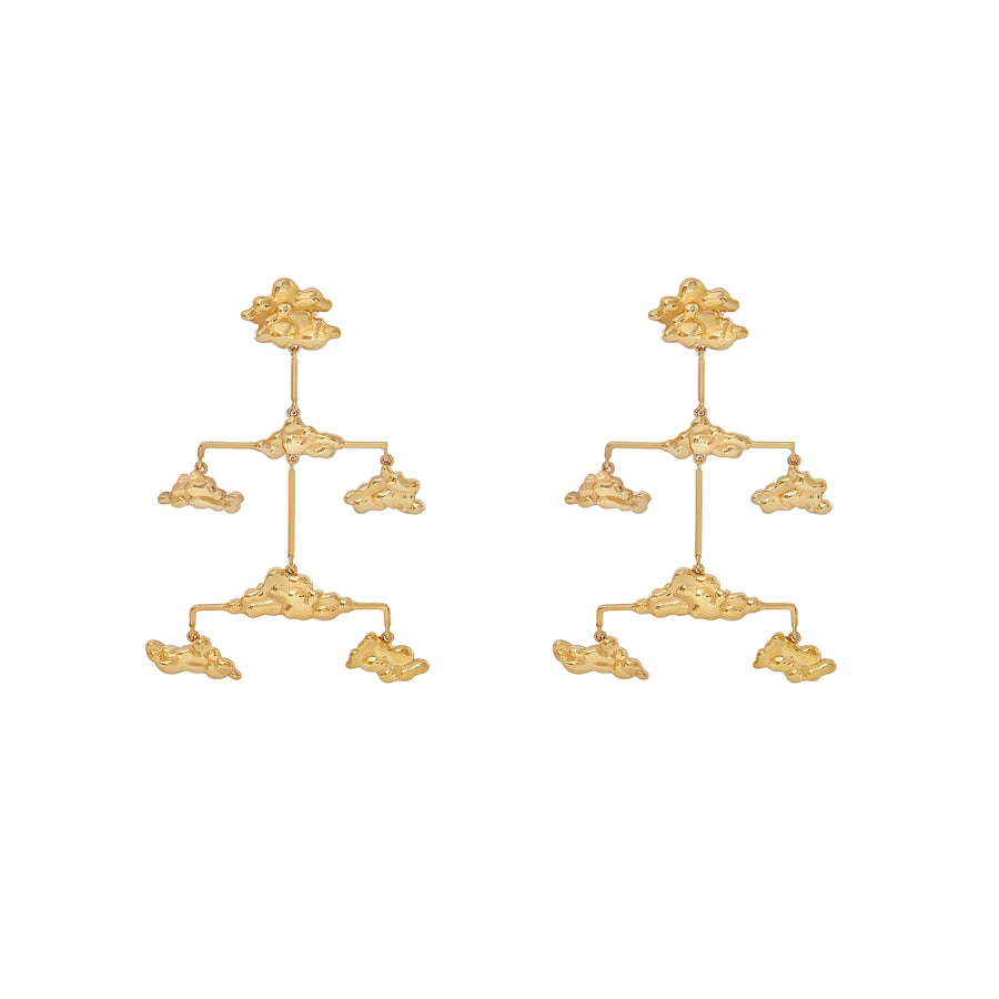 Mobile Clouds Eugênia Earrings Gold Plated