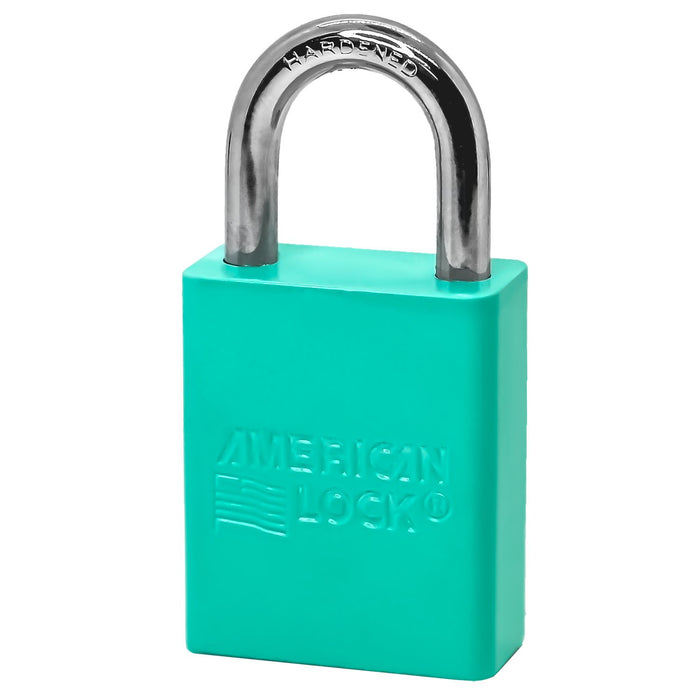 American Lock A1105 Anodized Aluminum Safety Padlock, 1-1/2in (38mm) Wide with 1in (25mm) Tall Shackle