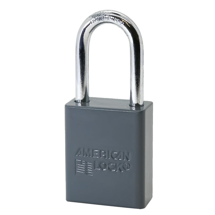 American Lock A1106 Anodized Aluminum Safety Padlock, 1-1/2in (38mm) Wide with 1-1/2in (38mm) Tall Shackle