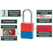 American Lock A1106 Anodized Aluminum Safety Padlock, 1-1/2in (38mm) Wide with 1-1/2in (38mm) Tall Shackle-Keyed-MasterLocks.com