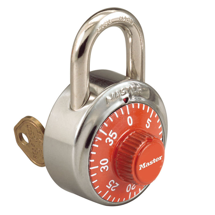 Master Lock 1525COLOR Combination Padlock 1-7/8in (48mm) wide 3/4in tall shackle