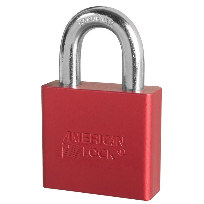 American Lock A1305 Anodized Aluminum Padlock 2in (51mm) wide 1-1/8in tall shackle