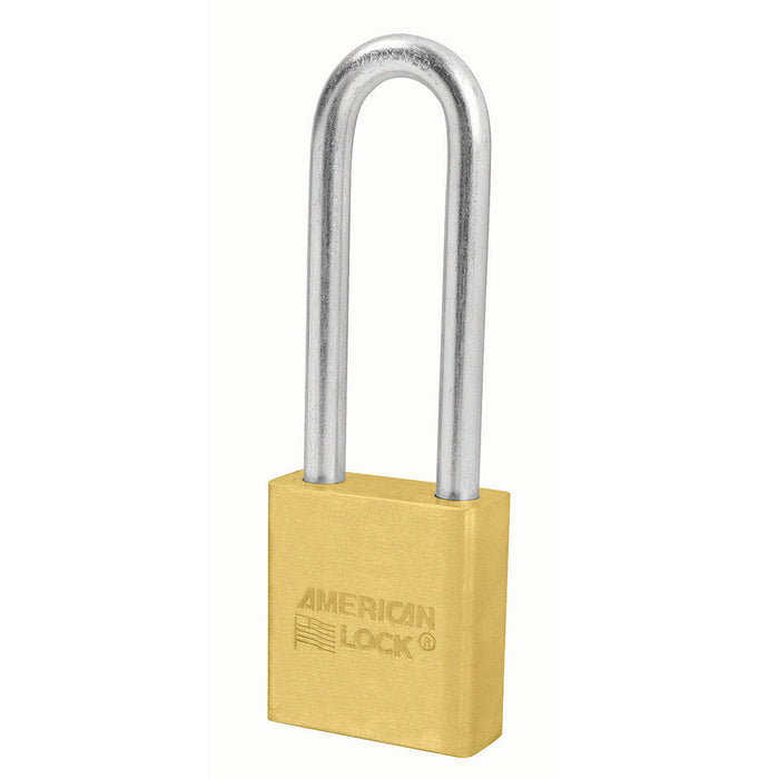 American Lock A22 Solid Brass Padlock 1-3/4in (44mm) wide 3in tall shackle