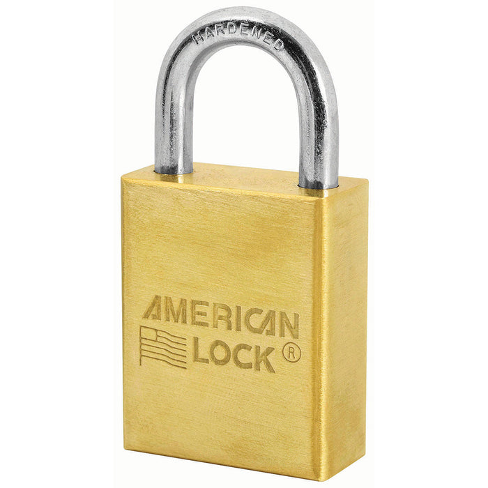 American Lock A40 Solid Brass Padlock 1-1/2in (38mm) wide 1in tall shackle