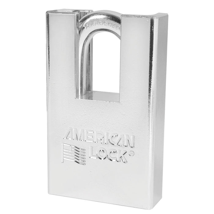American Lock A5360 Solid Steel (Chrome Plated) Padlock 2in (51mm) wide 1-1/8in tall shackle-AmericanLocks.com