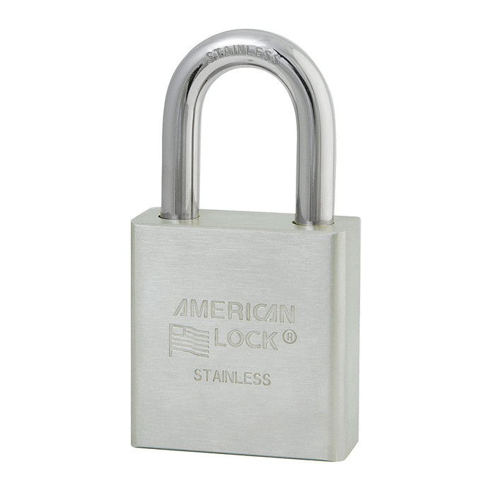 American Lock A5400 Solid Stainless Steel Padlock 1-3/4in (44mm) wide 1-1/8in tall shackle-AmericanLocks.com