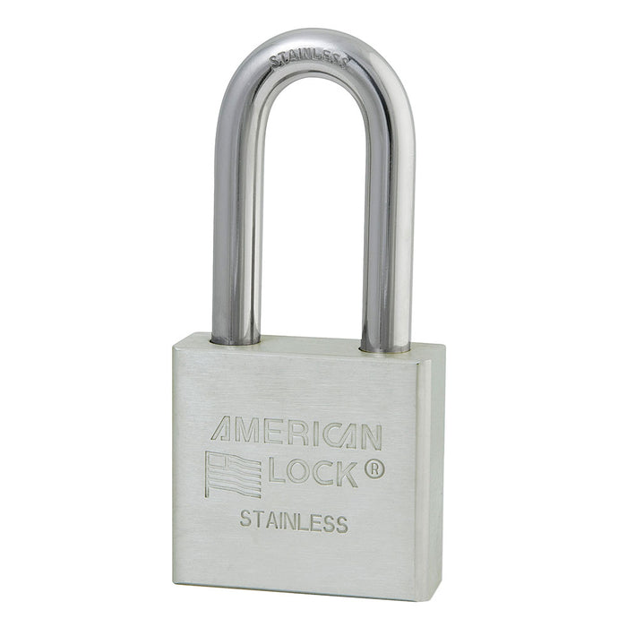American Lock A5461 Solid Stainless Steel Padlock 2in (51mm) wide 2in tall shackle