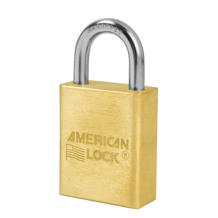 American Lock A5530 Solid Brass Padlock 1-1/2in (38mm) wide 1in tall shackle-AmericanLocks.com