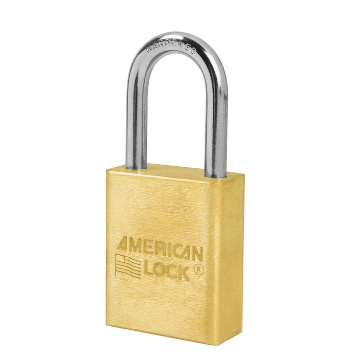 American Lock A5531 Solid Brass Padlock 1-1/2in (38mm) wide 1-1/2in tall shackle-AmericanLocks.com