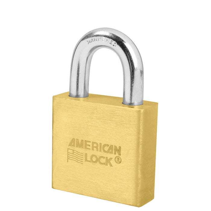 American Lock A5570 Solid Brass Padlock 2in (51mm) wide 1-1/8in tall shackle