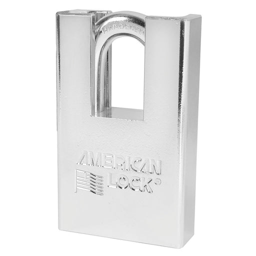 American Lock A6360 Solid Steel (Chrome Plated) Padlock 2in (51mm) wide 1-1/8in tall shackle-AmericanLocks.com