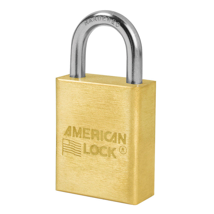 American Lock A6530 Solid Brass Padlock 1-1/2in (38mm) wide 1in tall shackle