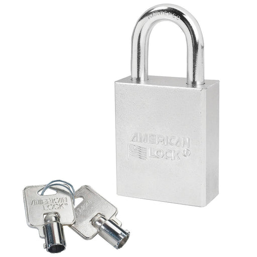 American Lock A7200 Solid Steel (Chrome Plated) Padlock 1-3/4in (44mm) wide 1-1/8in tall shackle-AmericanLocks.com