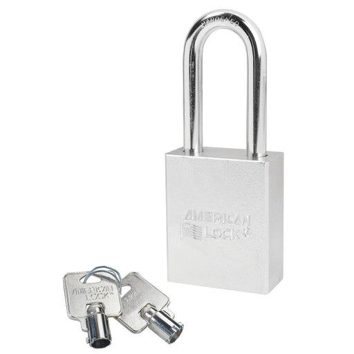 American Lock A7201 Solid Steel (Chrome Plated) Padlock 1-3/4in (44mm) wide 2in tall shackle-AmericanLocks.com