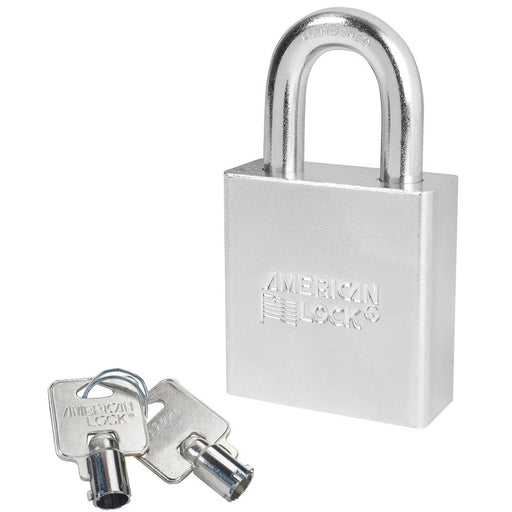 American Lock A7260 Solid Steel (Chrome Plated) Padlock 2in (51mm) wide 1-1/8in tall shackle-AmericanLocks.com