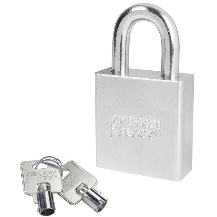 American Lock A7260 Solid Steel (Chrome Plated) Padlock 2in (51mm) wide 1-1/8in tall shackle
