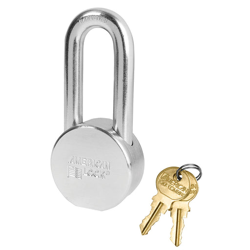 American Lock AH11 Solid Steel (Chrome Plated) Padlock 2in (51mm) wide 2in tall shackle-AmericanLocks.com