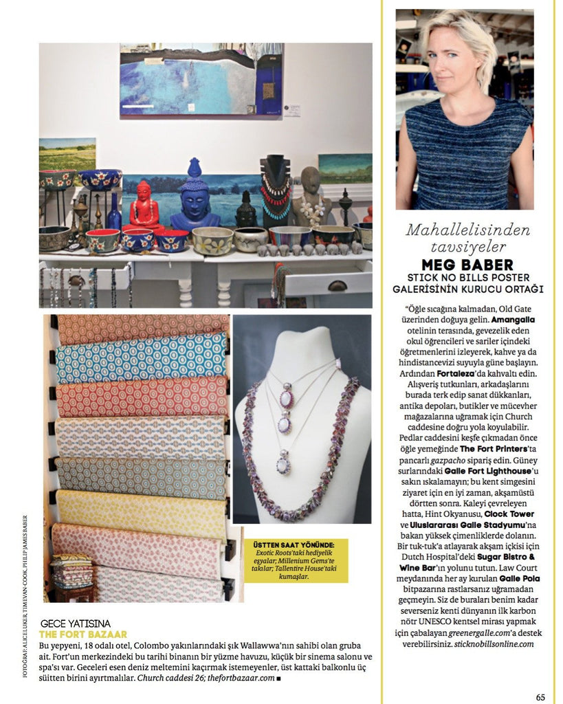 Conde Nast Traveller asks Stick No Bills® Founder Meg Williams how best to spend a day in Galle Fort.