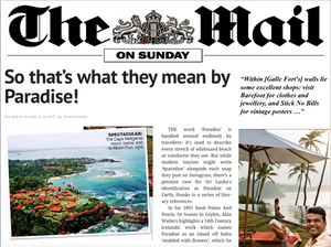 Britain's The Mail On Sunday highlights Barefoot and Stick No Bills™ as 'excellent shops' of Galle Fort