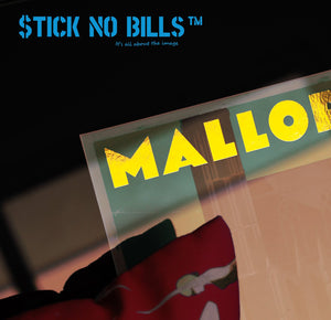 Mallorca Image showing off how effective Foil is on our Stick No Bills travel posters.
