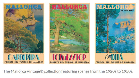 Hashtag Travelling July 2021 feature of Mallorca Vintage collection by Stick No Bills