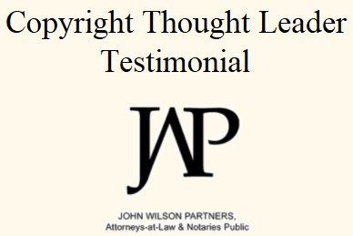 Copyright Thought Leader Testimonial - JWP