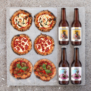 Mini pizza & Big Belly bierpakket