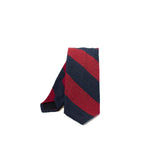 EG Cappelli handmade Blue Red silk tie #5543