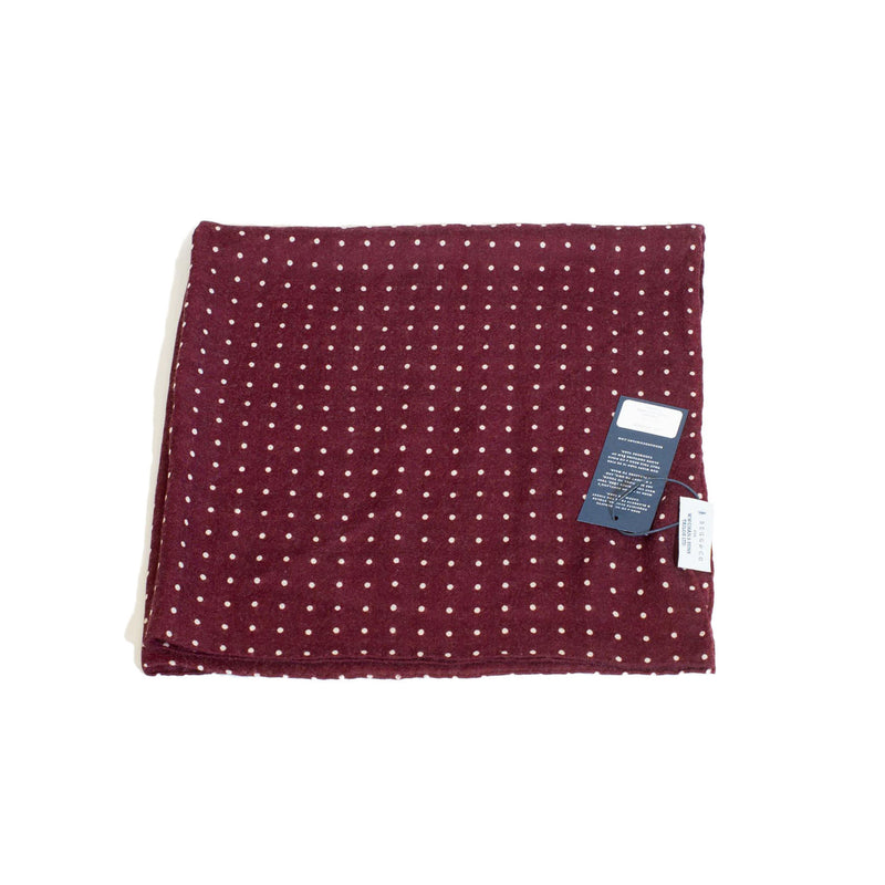 W.W.Chan x Begg & Co Red Cashmere Square Scarf