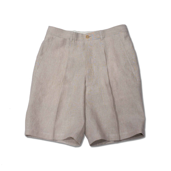 RED GANG - MTO Beige Linen Shorts