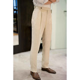 RED GANG - MTO Beige Linen Trousers