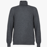 MTO Cashmere Turtle Neck Pullover Charcoal 8540 6157