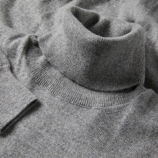 MTO Cashmere Turtle Neck Pullover Grey 8540 90073